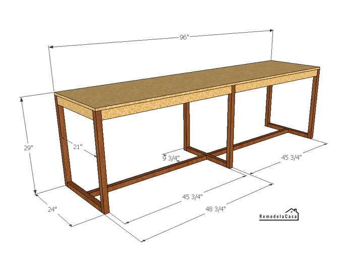 Free plans for a simple desk build