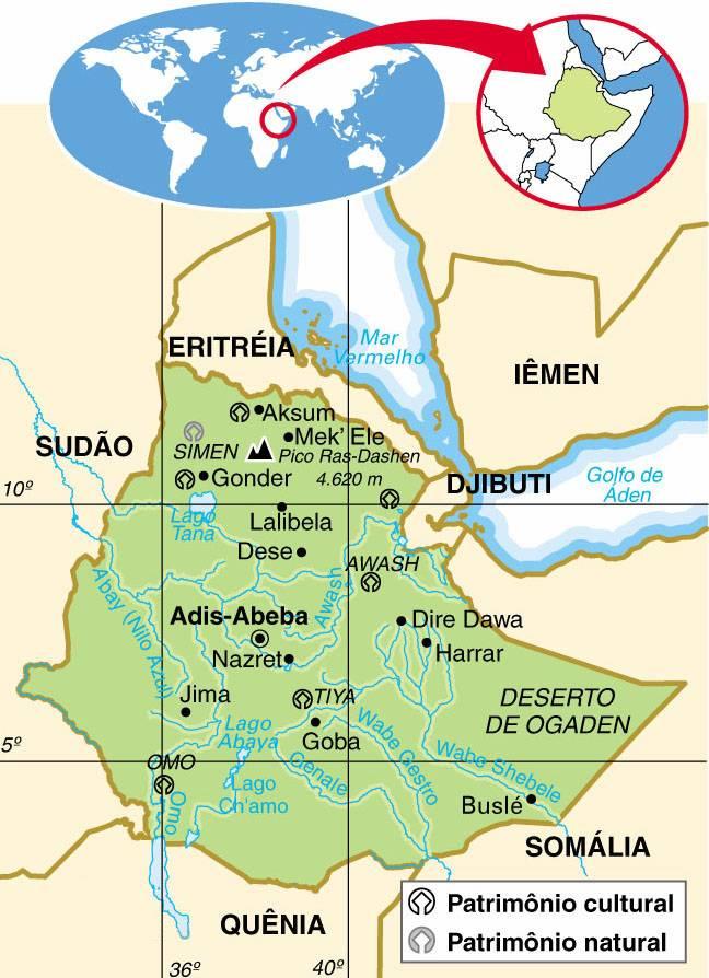 ETIÓPIA, ASPECTOS GEOGRÁFICOS E SOCIOECONÔMICOS DA ETIÓPIA