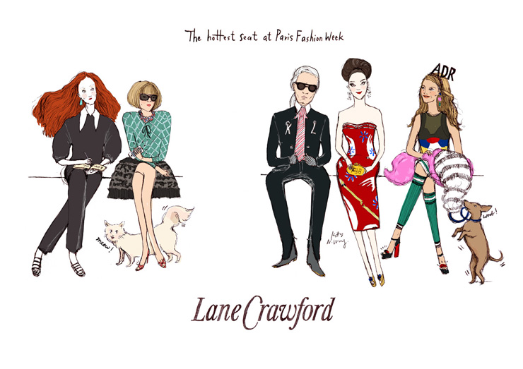 Kitty N. Wong / Live Fashion Drawing at Lane Crawford Hong Kong