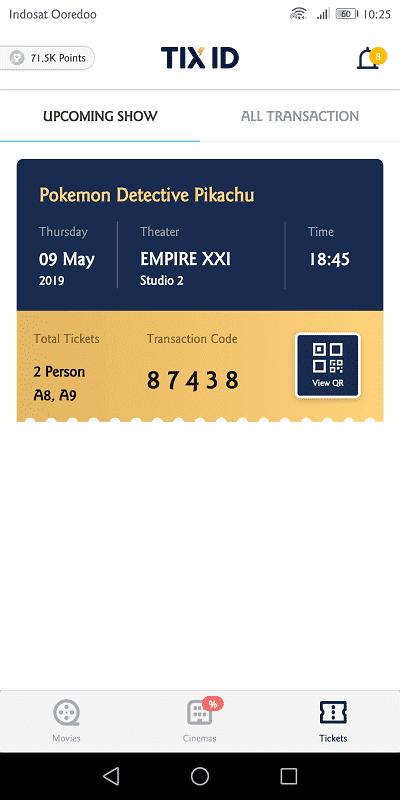 pembelian tiket di tix id berhasil