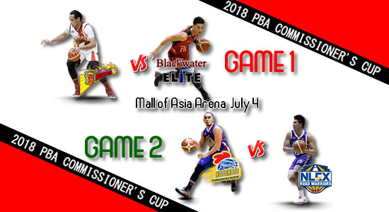 List of PBA Games: July 4 at MOA Arena 2018 PBA Commissioner's Cup