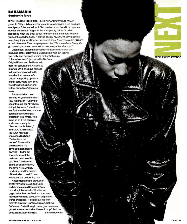 Bahamadia Next, Vibe Magazine, 1996