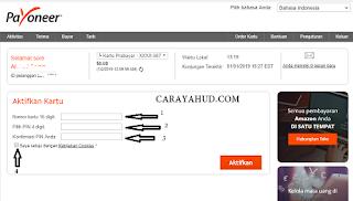 Cara Aktivasi Kartu Payoneer Mastercards Terbaru
