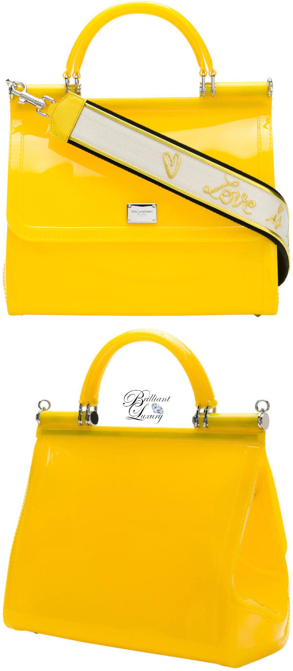Brilliant Luxury♦Dolce & Gabbana Sicily shoulder bag in yellow