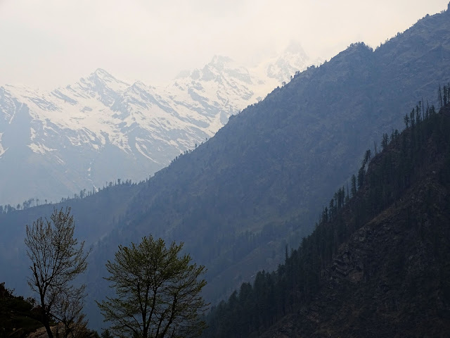Snowcapped Mountains at Khir Ganga