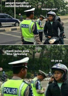 10 Meme Kocak 'Obrolan Polisi' Ini Bikin Ngakak, Absurd Abis!