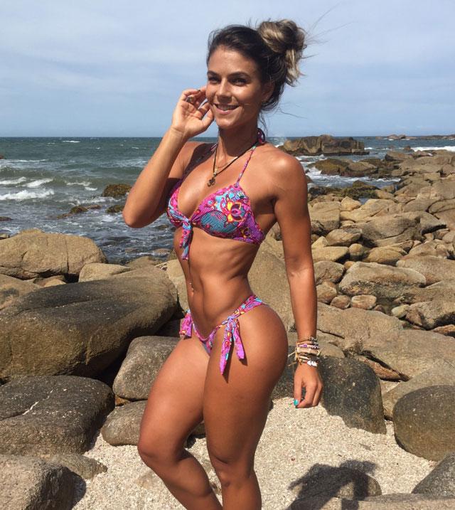 Karen González foi a candidata mais votada pelo público na primeira etapa do Arnold Model Search 2016. Foto: Divulgação