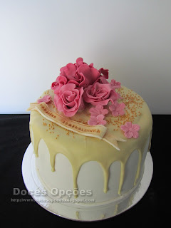 white chocolat drip cake