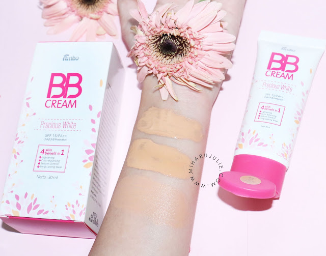 fanbo bb cream precious white review & swatch