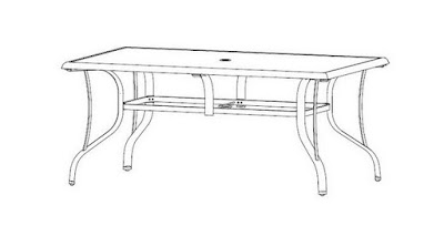 statesville rectangular glass top dining table