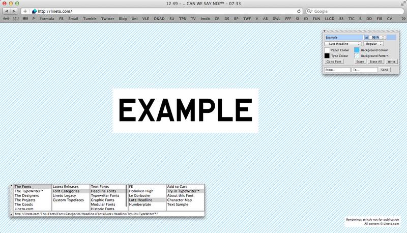 Design Practice: Brief 3 - Type foundries
