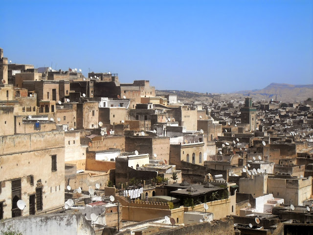 Tejados ciudad de Fez