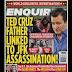 Trump trata de involucrar al papá de Ted Cruz en asesinato de Kennedy