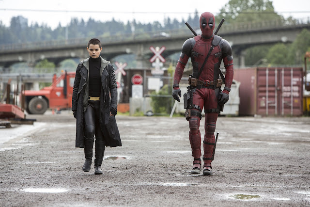 Brianna Hildebrand as Negasonic Teenage Warhead & Ryan Reynold's as Deadpool
