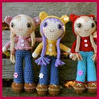 Muñecas oso amigurumi