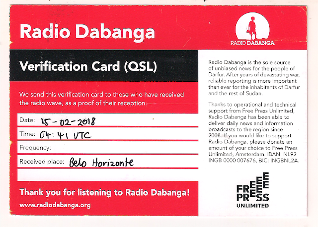 Radio Dabanga QSL