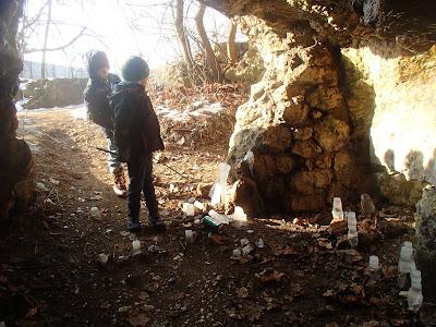 Zakrzówek, Skałki Twardowskiego, Jaskinia Twardowskiego, lodowe stalagmity