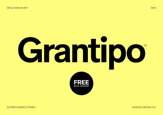 walaupun masih beta tapi sudah dapat kita pakai untuk keperluan tanpa berbau komersil Download Font Grantipo Beta 001 Free