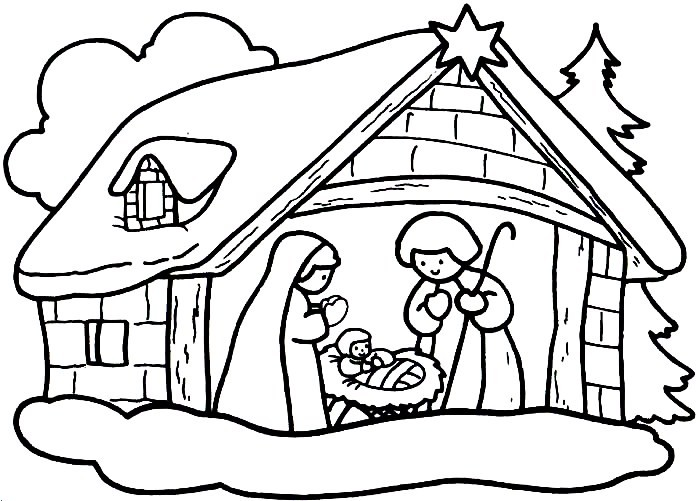 Baú Da Web: Desenhos De Presépio De Natal Para Colorir