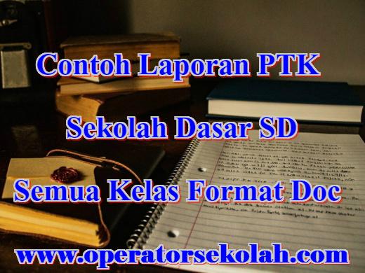 Contoh Laporan PTK SD