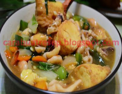 Cara Membuat Sapo Tahu Seafood Chinese Food Resep Masakan Indonesia