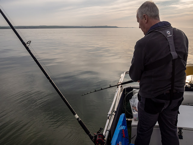 Photo of Phil fishing with one of his downtide rods