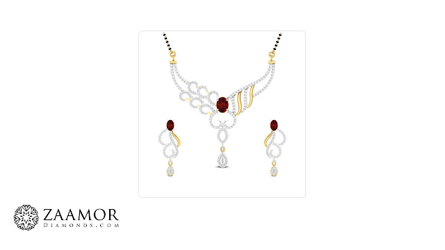 Ruby Mangalsutra - Zaamor Diamonds