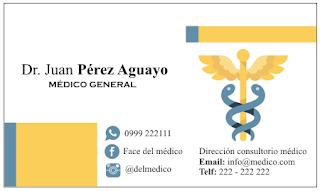 Para doctores las mejores tarjetas de presentación