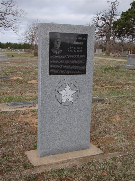 Image result for bill tilghman's grave