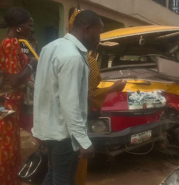 man crushes into bus benin city