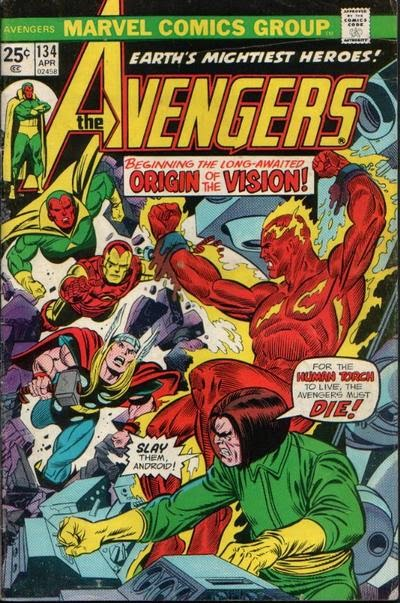 Avengers #134, Origin of the Vision