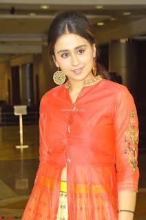Simrat in Orange Anarkali Dress 08.JPG