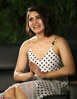 Samantha Ruth Prabhu looks super cute in a deep neck sleeveless short dress ~ Exclusive 019