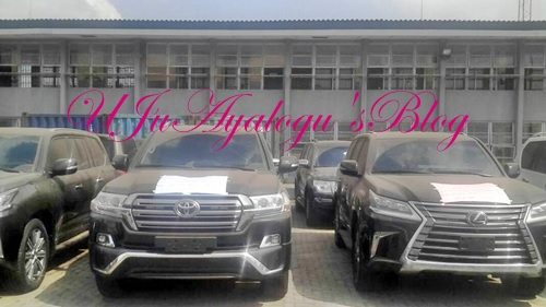 See the Smuggled Luxury SUV Cars Confiscated by Nigeria Customs in Lagos Worth N1.3billion