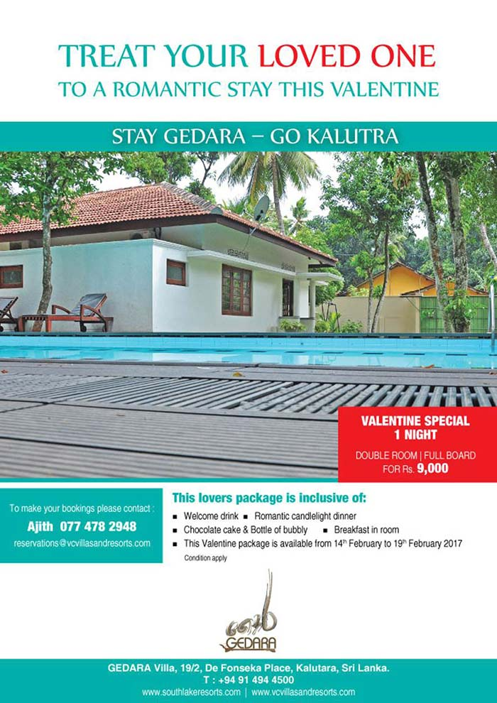 Gedara Villas | Treat your Loved One to a Romantic stay this Valentine at Kalutara