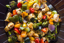 15 Minute Healthy Roasted Chicken and Veggies (One Pan15 Minute Healthy Roasted Chicken and Veggies (One Pan)
