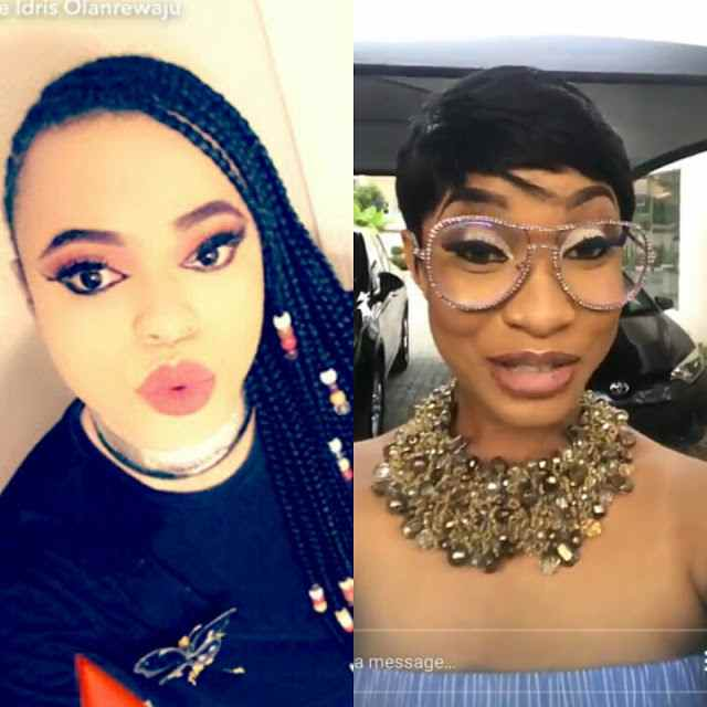 Actress, Tonto Dikeh caught kissing Bobrisky