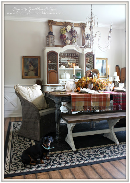 Mini Dachshund-Farmhouse -Thanksgiving- Fall- Dining Room-From My Front Porch To Yours