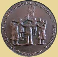Medalla del Congreso Internacional de minería en Barcelona, 1984