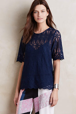 bohemian floral, lace, and white tunic tops from anthropologie from the 2016 spring collection