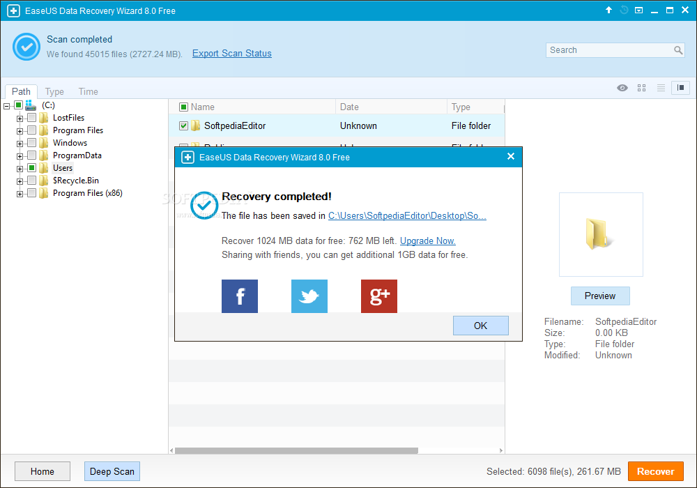 Download EaseUS Data Recovery Wizard 8.5.0 Unlimited (With Keygen)