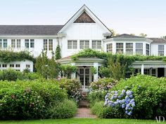 Gorgeous lush garden and house in Hamptons,  Peter Marino