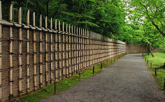 gaya desain pagar minimalis dari bambu