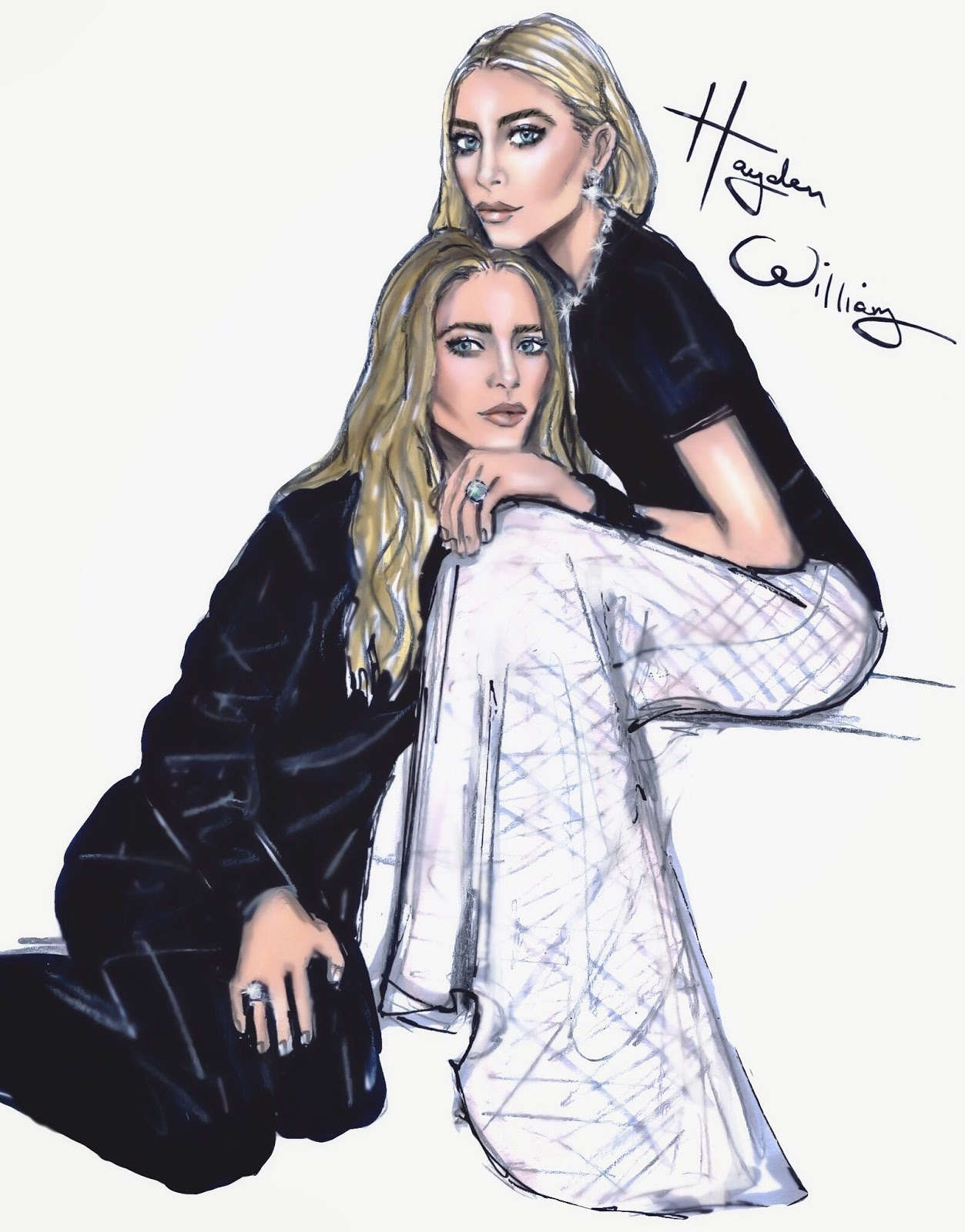 Hayden Williams Fashion Illustrations Cfda 2015 Designers Of The Year Mary Kate Ashley