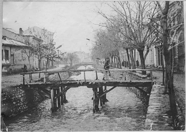 In the streets of Monastir (Bitola) (February 1917). Perspective on the Dragor River