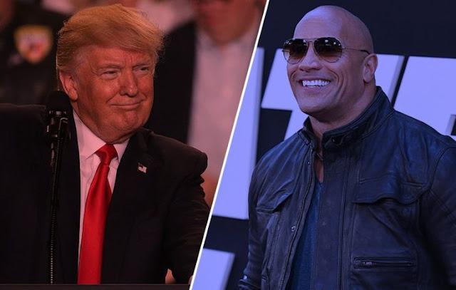 """Encuesta pone a """"The Rock"""" por encima de Trump en elecciones"""