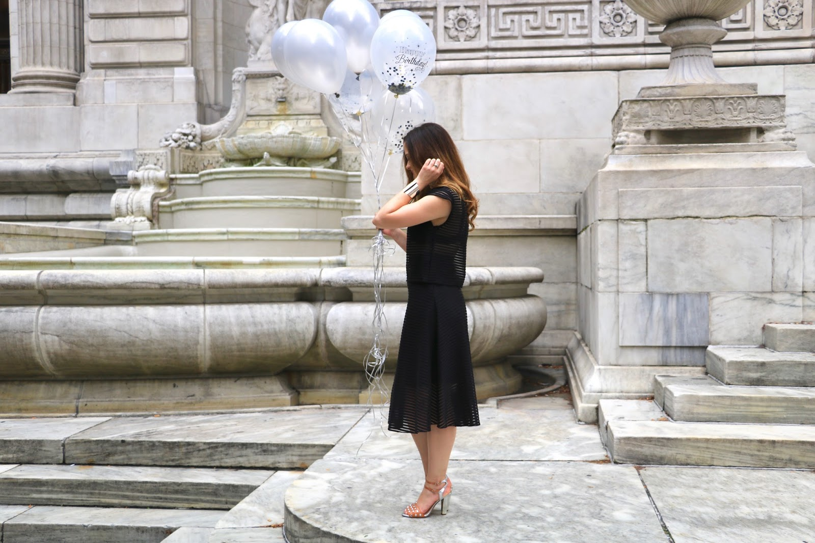 NYC fashion blogger Kat's Fashion Fix wearing a black mesh outfit