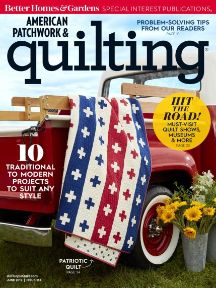 new! June 2019 American Patchwork & Quilting