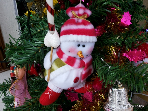 snowman christmas tree hanging