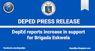 DepEd reports increase in support for Brigada Eskwela